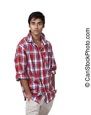 Indian guy with casual attitude