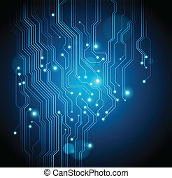 circuit board abstract background - vector is available
