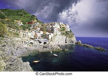 Coast of Italy - Detail of Italian Coast
