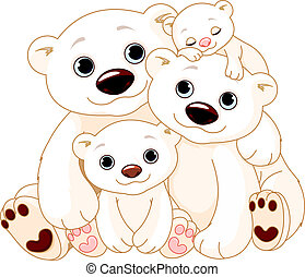 Big Polar bear family - Illustration of Big Polar bear...