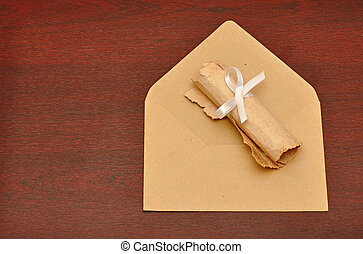 envelopes with roll old paper
