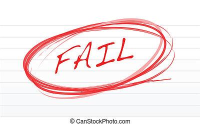 fail written on a notepad paper