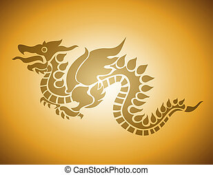 Vector Year of Dragon 2012 - This image is a vector...