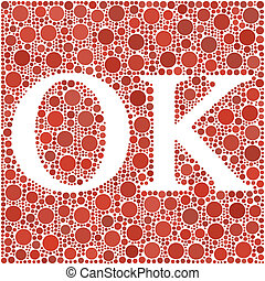 OK! in a mosaic of circles