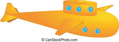Yellow submarine. vector