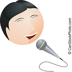Vector illustration Karaoke