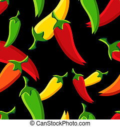 Chilli peppers pattern - Seamless chilli peppers pattern...