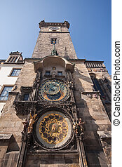 Prag historic architecture - Astronimical clock in Old Town...