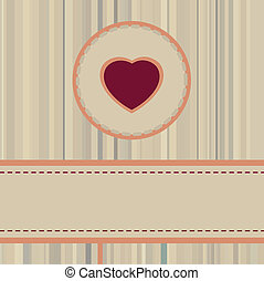 Vintage valentine Card or package design. EPS 8