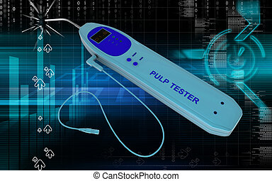Pulp tester - Digital illustration of pulp tester in colour...