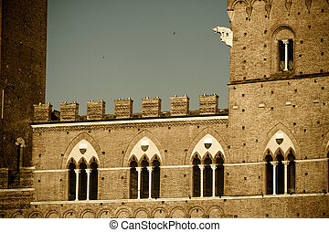 Siena historic architecture - example of italian historic...