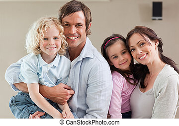 Lovely family posing together