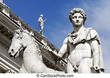 Equestrian statue, Rome, Italy