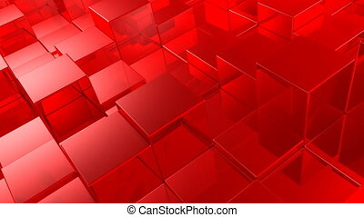 red cubes - animated red cubes background