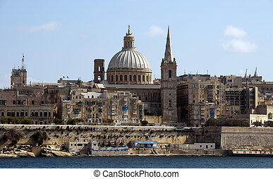 old valetta city - Skyline of the Malta city Valetta