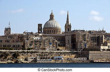 old valetta city - Skyline of the Malta city Valetta