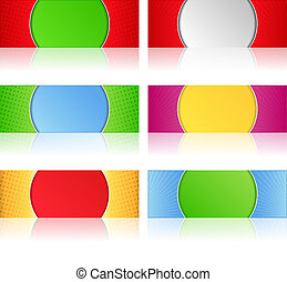 Banners with reflection - Vector set of banners with...