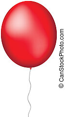 Red ballon - Red big balloon isolated on white background