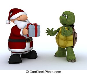 tortoise and Santa Claus