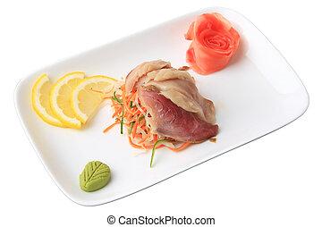 hamachi,  sashimi