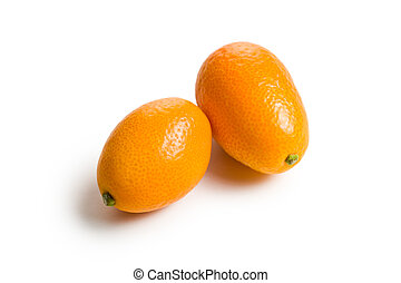 kumquat fruit on white background