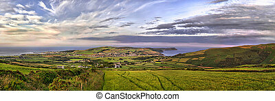 HDR Panorama - South - Isle of Man - HDR Panorama of South...