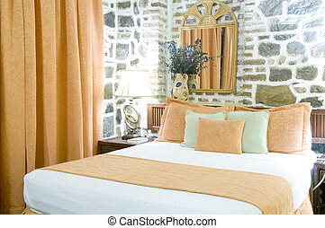 luxury hotel room cobblestone former sugar mill Kingstown...