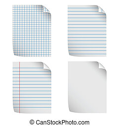 Notepaper - Illustration of notepaper on a white background.