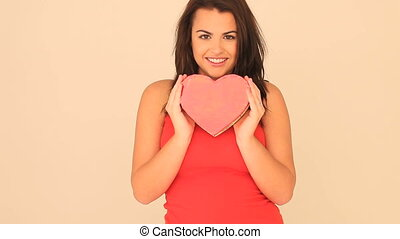 Beautiful Girl Holding Valentines H