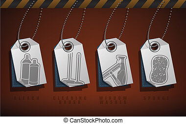 Cleaning Appliances - Cleaning Utensils theme icons set,...