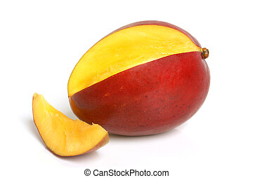 Mango on the white background