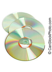 Three cd on a white background
