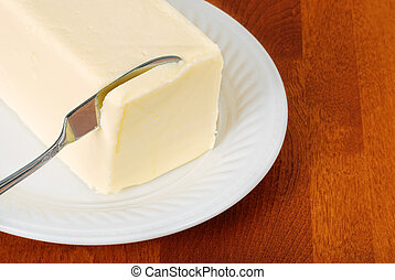 knife in butter