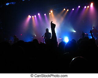 live at the strand - fans cheering at a small venue concert