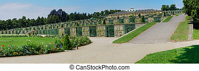 Sanssouci Palace - Terrace View, Potsdam, Germany - Panorama...