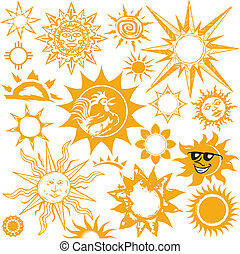 Sun Collection - Clip art set of sun themed icons and...