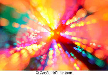Colorful abstract light burst background - Multi-color...