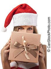 身に着けていること, 女,  santa, 贈り物, 衣装, 保有物, クリスマス, 幸せ