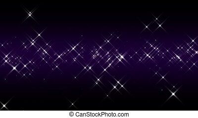Linear Starburst Purple Loop