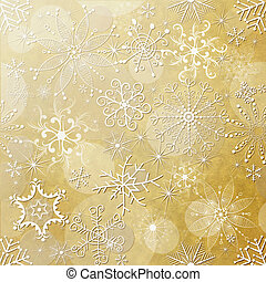 Christmas paper - Old yellow christmas paper with white...