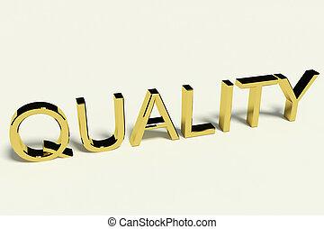 oro, Cartas, ortografía, calidad, con, Un, brillante,...