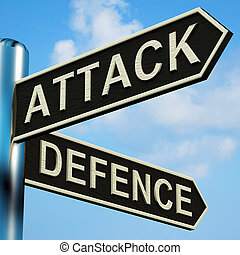 Attack Or Defence Directions On A Signpost