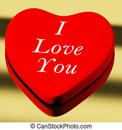 Red Heart With I Love You As Symbol for Valentines Day