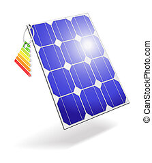 Solar cell. - The concept of using alternative energy...