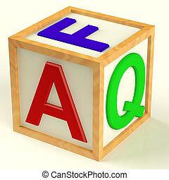 シンボル,  faq, 答え, 質問, つづり, ブロック