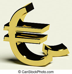 Broken Euro Representing Inflation Or Economic Failure