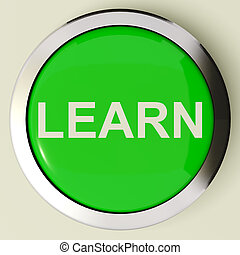 Learn Button Or Icon For Education Or Online Learning In...