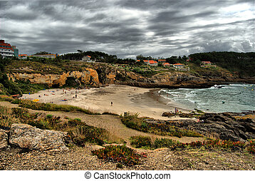 Hdr, Beach of Galicia, Spain - Hdr, beach of the paxarias,...