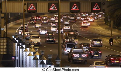 Road traffic - Time lapse of road traffic in Tel Aviv at...