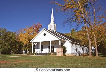 Church - Small Church in Autumn